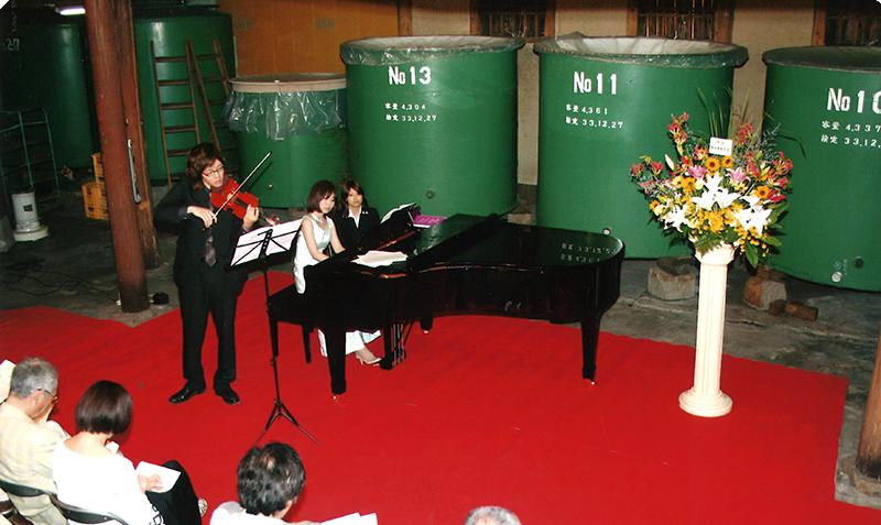 新酒が出来上がる季節に酒蔵でクラシックコンサートを開催しています