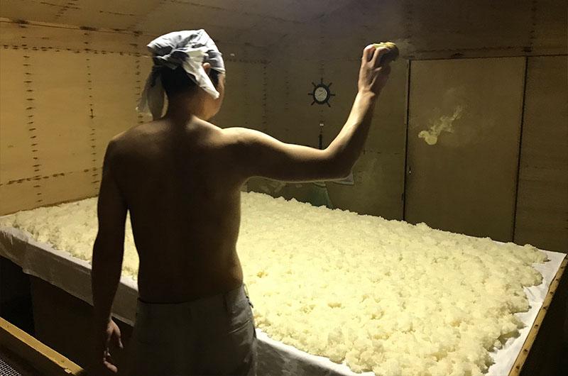 デンプンを糖分に〜酒造りの根本となる麹造り
